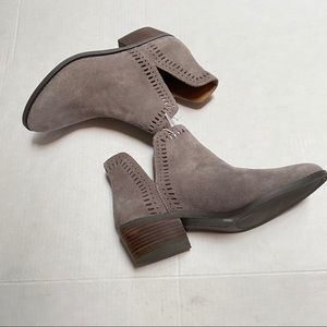 NWT lucky brand booties francee gray suede…